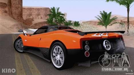 Pagani Zonda F para GTA San Andreas vista interior