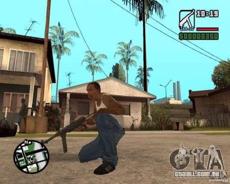 MP 40 para GTA San Andreas segunda tela