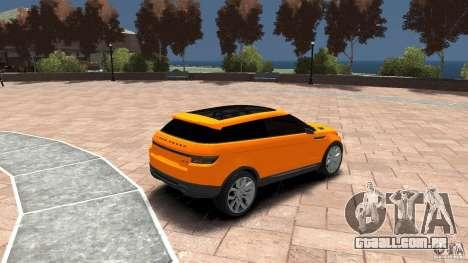 Range Rover LRX 2010 para GTA 4 vista direita