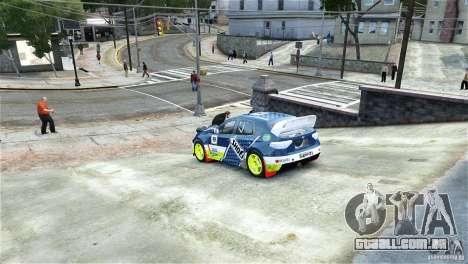 Subaru Impreza WRX STI Rallycross SHOEL Vinyl para GTA 4 esquerda vista