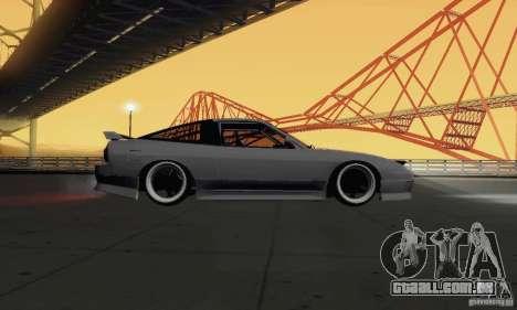 Nissan 180SX para GTA San Andreas vista traseira
