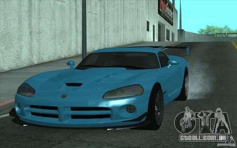 Dodge Viper SRT10 ACR para GTA San Andreas esquerda vista
