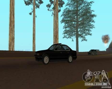 BMW 535i e34 para GTA San Andreas vista traseira