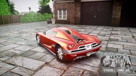 Koenigsegg CCX v1.1 para GTA 4 vista interior