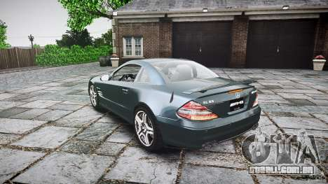 Mercedes Benz SL65 AMG V1.1 para GTA 4 traseira esquerda vista