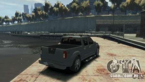 Nissan Frontier para GTA 4 esquerda vista