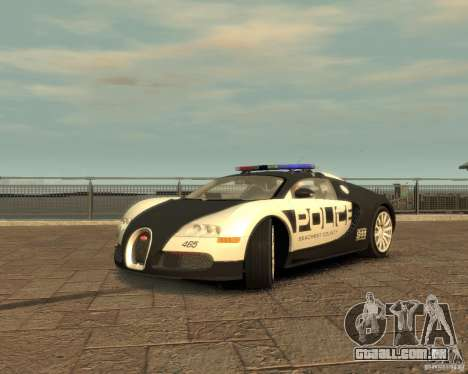 Bugatti Veyron Police [EPM] para GTA 4 vista direita
