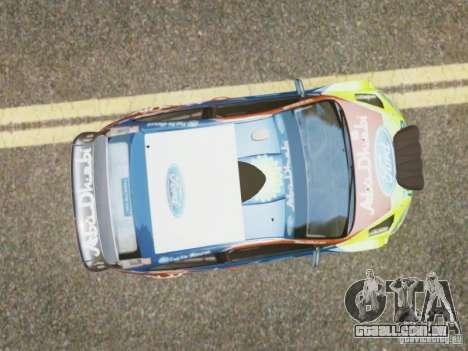 Ford Focus RS WRC para GTA 4 vista direita