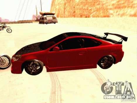 Acura RSX Drift para GTA San Andreas esquerda vista