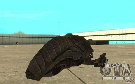 Nave predador do jogo Aliens vs Predator 3 para GTA San Andreas esquerda vista