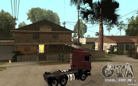 Scania 124 R480 6x4 Truck 1 para GTA San Andreas vista direita
