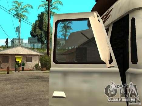 Limpar o vidro no cachorro-quente-e para GTA San Andreas traseira esquerda vista