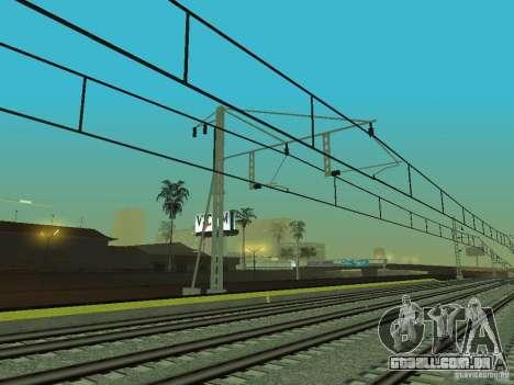 Linha ferroviária de alta velocidade para GTA San Andreas nono tela