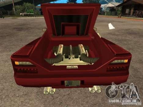 HD Cheetah para GTA San Andreas vista traseira