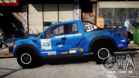 Ford F150 Racing Raptor XT 2011 para GTA 4 esquerda vista