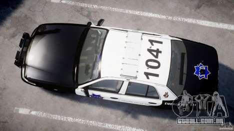 Ford Crown Victoria SFPD K9 Unit [ELS] para GTA 4 vista interior