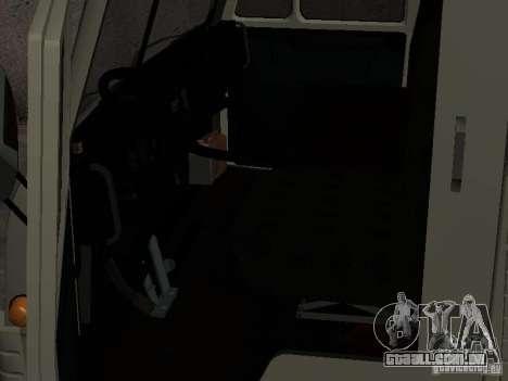 KAMAZ 4310 relógio para GTA San Andreas vista direita