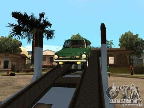 ZAZ 968M v2 para GTA San Andreas vista traseira