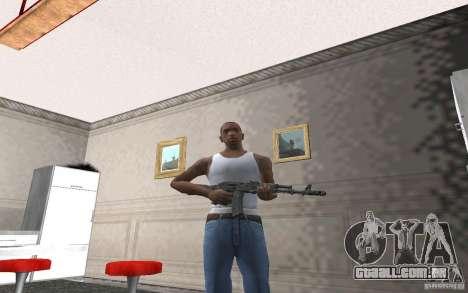 AK-74 m para GTA San Andreas por diante tela