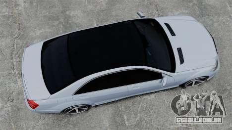 Mercedes-Benz S65 W221 Vossen v1.2 para GTA 4 vista direita