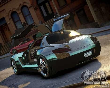 Mercedes SLS Extreme para GTA 4 traseira esquerda vista