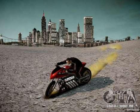 Drag Bike para GTA 4 vista de volta