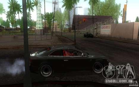 Audi S5 Black Edition para GTA San Andreas vista traseira