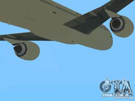 Boeing 787 Dreamliner Air Canada para GTA San Andreas vista traseira