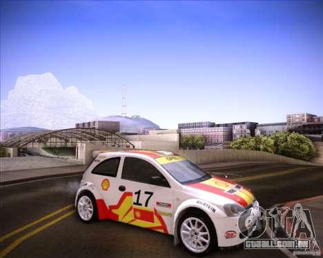 Opel Corsa Super 1600 para GTA San Andreas traseira esquerda vista