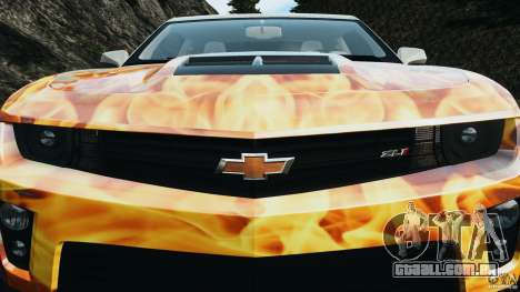Chevrolet Camaro ZL1 2012 v1.0 Flames para GTA 4 motor