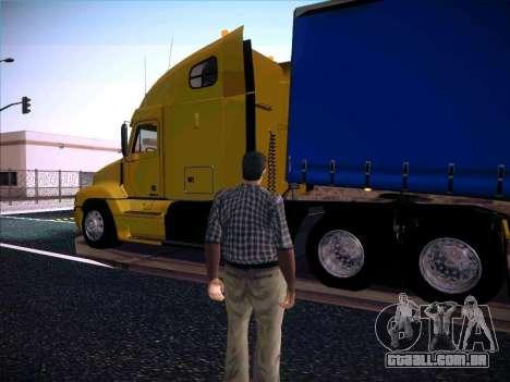 Freightliner Century Classic para GTA San Andreas esquerda vista