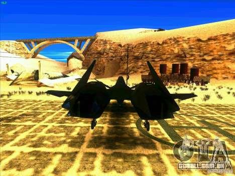 ADF-01 Falken para GTA San Andreas traseira esquerda vista