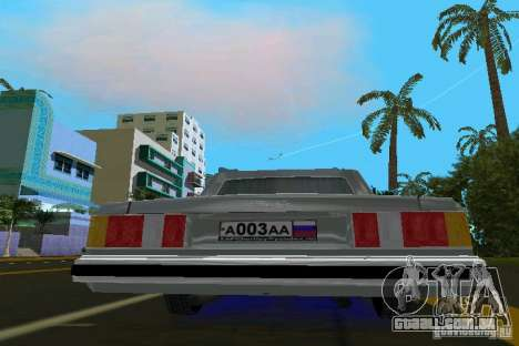 ZIL 41047 para GTA Vice City vista traseira