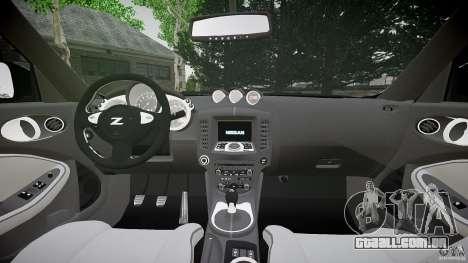 Nissan 370Z Coupe 2010 para GTA 4 vista de volta
