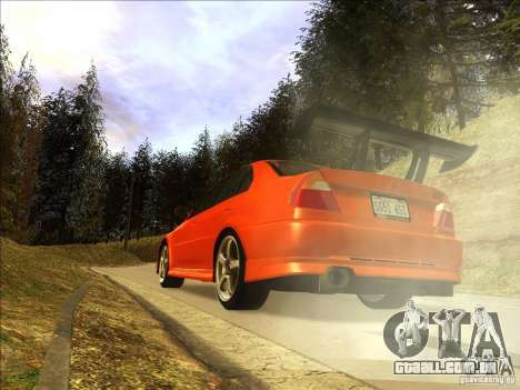 Mitsubishi Lancer Evolution VI 1999 Tunable para GTA San Andreas esquerda vista