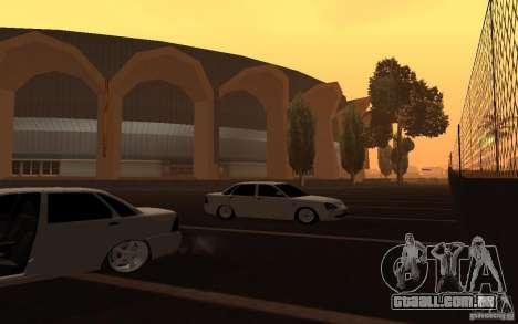 Lada Priora Light Tuning para GTA San Andreas vista traseira