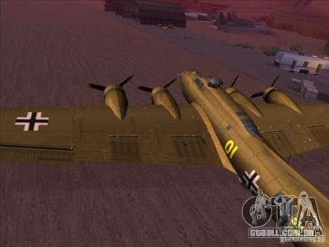 B-17G Flying Fortress para GTA San Andreas esquerda vista