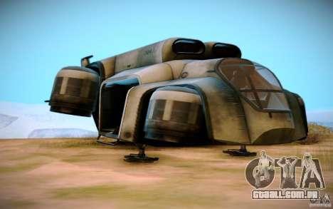 BTR-20 Yastreb para GTA San Andreas vista traseira