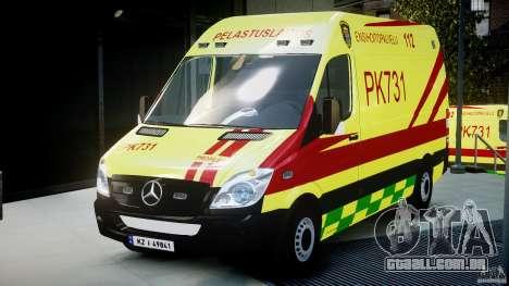 Mercedes-Benz Sprinter PK731 Ambulance [ELS] para GTA 4
