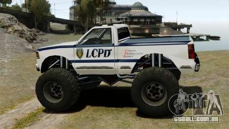 Policial Monster Truck ELS para GTA 4 esquerda vista