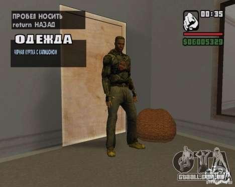 Roupas de um stalker para GTA San Andreas sexta tela