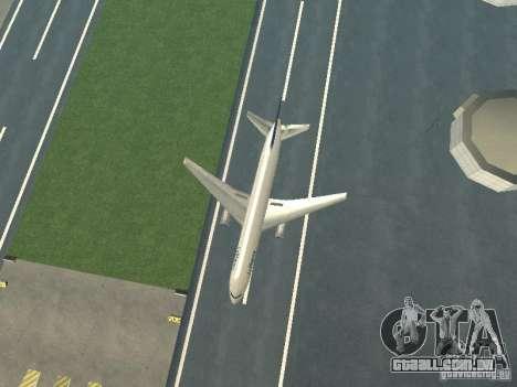 Boeing 767-300 Lufthansa para GTA San Andreas vista traseira