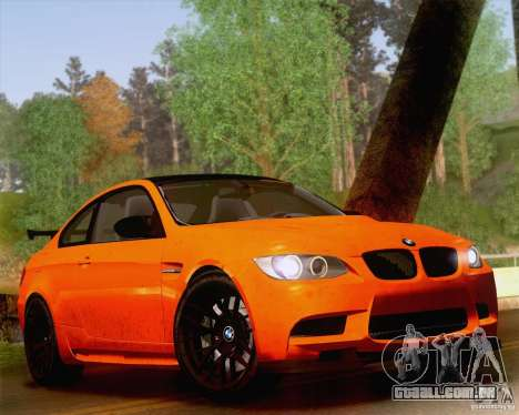 BMW M3 GT-S 2011 para GTA San Andreas vista interior