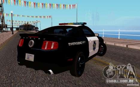 Ford Shelby Mustang GT500 Civilians Cop Cars para GTA San Andreas vista direita