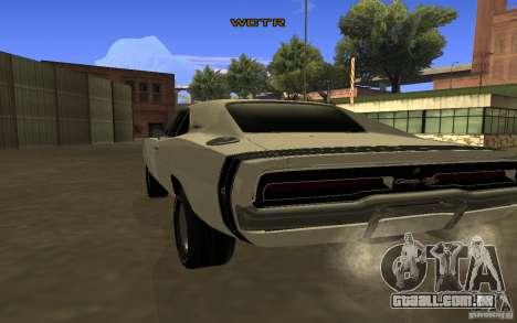 Dodge Charger R/T para GTA San Andreas traseira esquerda vista