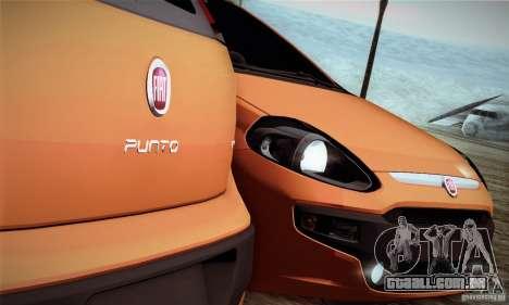 Fiat Punto Evo 2010 Edit para GTA San Andreas vista traseira