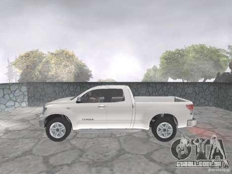 Toyota Tundra para GTA San Andreas vista traseira