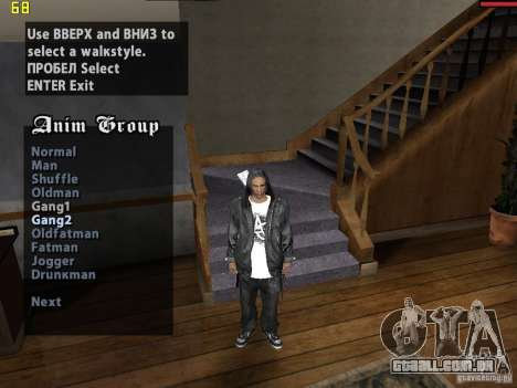 Walk style para GTA San Andreas segunda tela