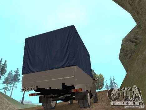GAZ 3302 em 2001. para GTA San Andreas vista interior