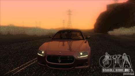 Maserati Quattroporte Sport GT V1.0 para GTA San Andreas interior